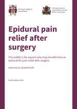 Epidural pain relief after surgery